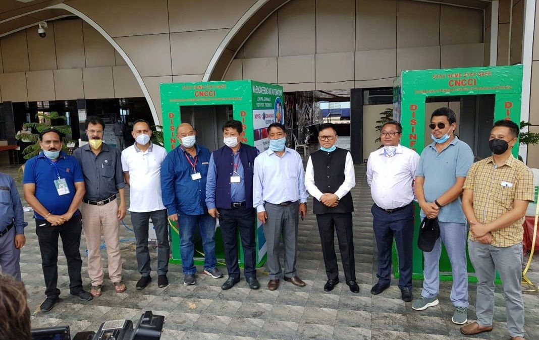 CNCCI DONATES TWO DISINFECTANT TUNNELS